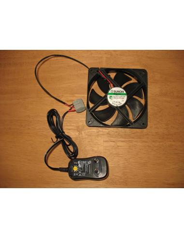 KIT ventilation réglable 12cm 12VCC