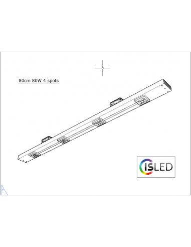 Rail LED V5.2PF (Pure Floraison) 80cm...
