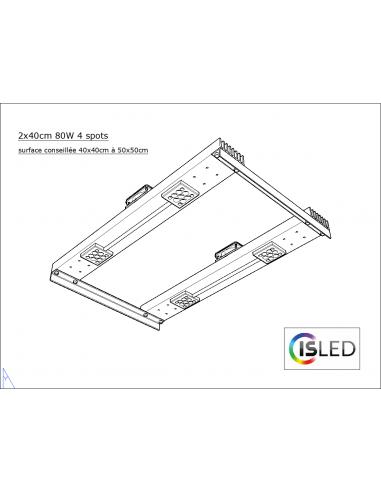 Lampe LED V5.0PF (Pure Floraison) 80W...