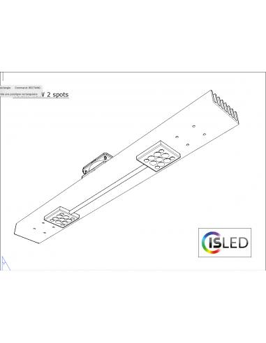 Rail LED V5TT 40cm 40W 24V 2 spots...