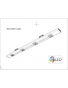Rail LED V5TT 80cm 80W 4...